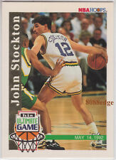 1992-93 HOOPS ULTIMATE GAME: JOHN STOCKTON #SU1 UTAH JAZZ 11 TIMES ALL-NBA TEAM