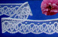"White Lace Trim 12 - 24 Yards x 1-3/4"" Scalloped P09V Buy any 3 Trims Get 1-FREE"