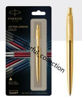 Parker Jotter London Gold Ball Pen (Refillable) With Gold Trim (Blue Ink)