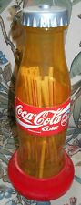 COCA-COLA PLASTIC BOTTLE PAPER LABEL STRAW DISPENSER FROM SPAIN