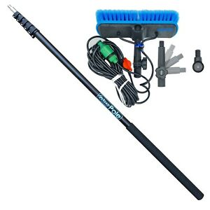 IGADPOLE 12, 15 or 24 foot(3.4, 4.5, 7m) Extension Pole and Window Wash Brush