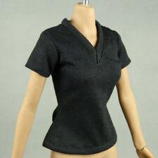 1/6 Phicen, Hot Toys, Kumik, Cy, Nouveau Toys - Female Black V-Neck T-Shirt