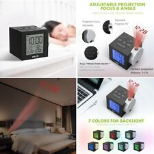 Alarm Clocks Time Projection on Ceiling Wall Colorful Backlight for Bedroom Kids