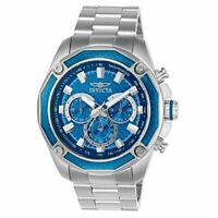 Invicta Men's Aviator Steel Bracelet & Case Quartz Blue Dial Analog Watch 22804