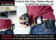 Battery mounts MAKITA 18v wall support bracket Shelf Rack Stand Slots belt mount