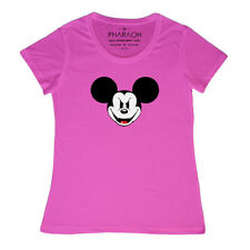 EVIL MICKEY MOUSE DISNEY LADIES FITTED T SHIRT (SIZE 8 - 20) Womens Girls Top