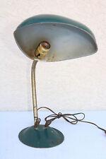 Vintage Old Industrial Light Soldering Desk Table Lamp Steam Goose WIDE Shade