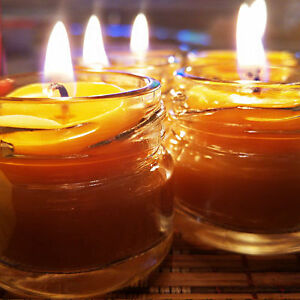 Beeswax Honey Candles, Cute Little Glass Jar, Hand Poured, Free Shipping!