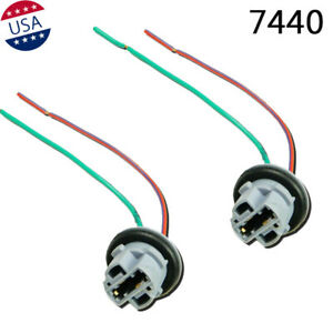 2x 7440 Adapter Wiring Harness Sockets Wire For Fog Light Headlights Lamps