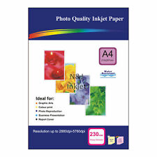 50 Sheets of A4 230gsm High Quality Glossy Photo Paper for Inkjet Printers
