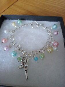 Multi Coloured Tinkerbell Fairy Charm Bracelet