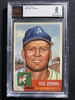 1953 Topps #42 Gus Zernial Bvg 8 Psa Crossover?