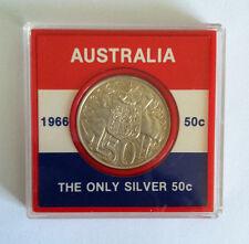 1966 50c Round Silver Coin in Case EF+