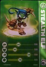 Stealth Elf Skylander Giants Stat Card Only!
