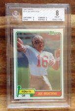 1981 Topps #216 Joe Montana Rookie HOF BGS 8