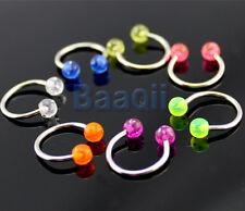 Lot 7 Horseshoe Barbell Lip Rings Bar Body jewellery Nose Navel Ear Earring YG
