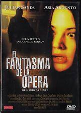 Dario Argento: EL FANTASMA DE LA ÓPERA. Cine giallo, Italia DESCATALOGADO