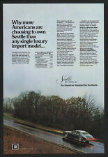 1981 CADILLAC SEVILLE Luxury Car VINTAGE AD