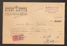 PARIS (VII°) ANNUAIRE DU COMMERCE DIDOT-BOTTIN / Abonné en 1947