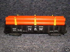 804 American Flyer N&W Gondola w/ New Brown Repro Pipe Load
