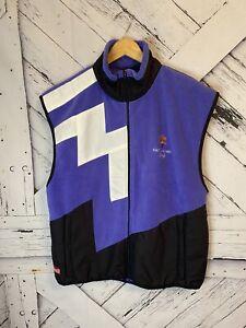 Vintage 2002 SALT LAKE Ski Winter Olympics MARKER Unisex Fleece Small Vest XL