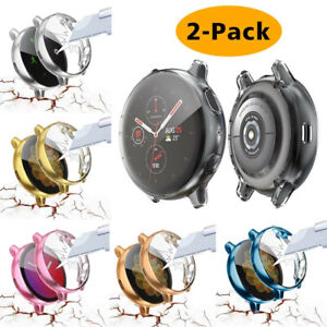 2Pack Soft TPU Protector Watch Case Cover For Samsung Galaxy Watch Active2/1