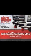 """WESTERN SNOW PLOW 5"""" DROP RECEIVERS KIT Ultra mount Leveling Brackets UNPAINTED"""