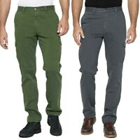 CARRERA JEANS pantaloni da uomo cargo mod. 619 regular gabardina pesante tasconi