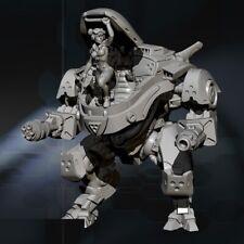 110mm Resin Figure Model Kit robot beauty soldier Machine unpainted unassembled