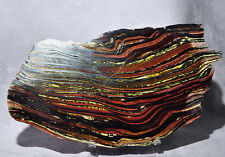 Tiger Iron 6.5 inch Partial Polished Crystal Slab - Australia