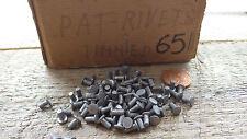 Packung 100 Blechmann Kopf Blechdose Stahl Nr. 7 Pat Nieten NOS Dampf 2.87mm 65