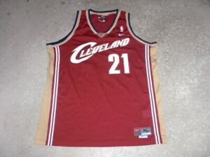 CLEVELAND CAVALIERS fully sewn #21 Nike Basketball Jersey men's XL