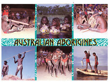 Australian Aborigines, Ancient Traditions and Craft Rare Multiview Postcard 1999