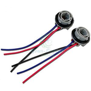 2X 1157 2057 2357 Socket Adapter Harness Wiring For Turn Signal Light Bulb
