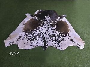 """New Cowhide Rugs Hair On COW HIDE Rugs Area Cow Skin Leather Rugs (67"""" x 58"""")"""