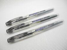 free ship 3pcs Platinum Preppy fountain pen F nib 0.3mm clear BLACK   BLACK ink
