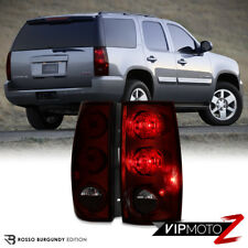 2007-2014 Chevy Suburban Tahoe GMC Yukon XL DARK Red Rear Brake Tail Lights SET