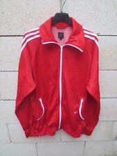 Veste ADIDAS rétro vintage rouge TREFOIL jacket sport détente giacca jacke L