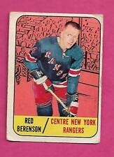 1967-68 TOPPS  # 24 RANGERS RED BERENSON  CARD (INV# C0598)