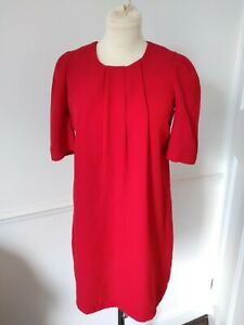 Atmosphere Red Shift  Dress Size 8 striking  work or casual exposed zip vgc