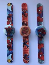 1x Boy Kid Children Spiderman Hero Wrist Snap on Slap band LED Wrist Watch Gift