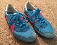 Womens Onisuka Tiger Blue & Pink Shoes D159L, Size 8
