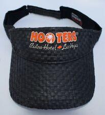 HOOTERS Casino Hotel Las Vegas Restaurant Visor Cap Hat One Size 100% Straw
