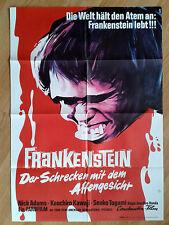 TOHO - FRANKENSTEIN CONQUERS THE WORLD - rare German 1-sheet 1967 - ISHIRO HONDA