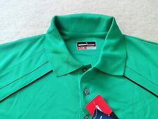 NEW Mens size Large Grand Slam Golf Polo shirt Green short sleeve polyester NWT