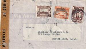 1943 Peru IIWW censored cover from Lima to Boston Mass USA