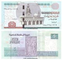 Egypt 5 Pounds 2016 P-New Banknotes UNC