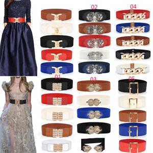 Womens Ladies Waist Belt Wide Waistband Elastic Band Dress Decor Corset Fashion