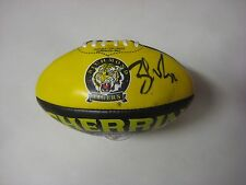 Richmond - Ben Cousins signed Richmond Mini Sherrin Football + COA