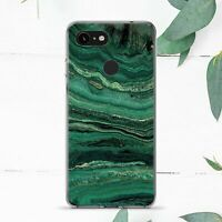 Emerald Green Teal Gold Marble Vintage Case Cover For Google Pixel 2 3 4a 5 XL